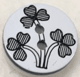 Small White Patterned Buttons